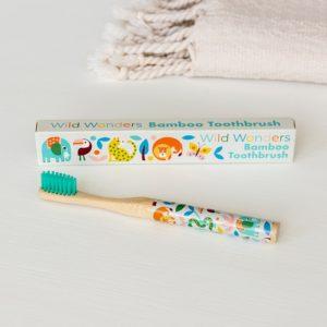 Бамбукова четка за зъби за деца с животни Rex London 28933 1