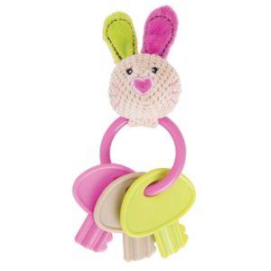 Бебешка дрънкалка с ключове зайче Bigjigs BB544 1