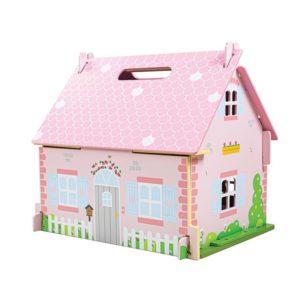 Детска дървена къща за кукли Bigjigs JT123 1