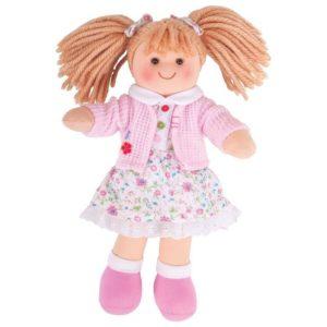 Детска кукла от плат Попи Bigjigs - 28 см BJD005 1