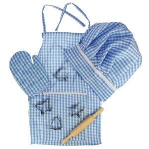 Детски костюм готвач Bigjigs - син BJ610 1