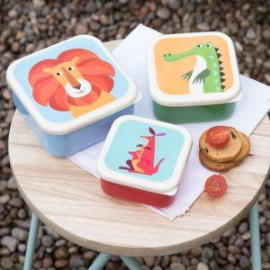 Детски пластмасови кутии за храна с животни Rex London - 3 броя 26625 1