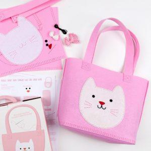 Детски творчески комплект направи си сам розова чантичка котето Куки Rex London 27954 1