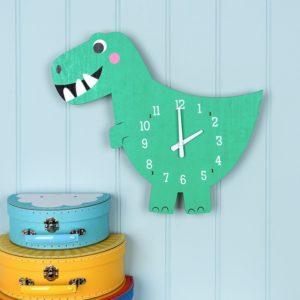 Детски часовник за стена динозавърчето Декс Rex London 28464 1