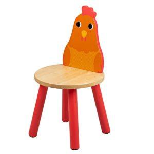 Детско дървено столче кокошчица Bigjigs T0624 1