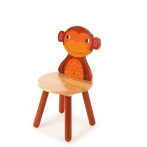 Детско дървено столче маймунка Bigjigs T0204 1