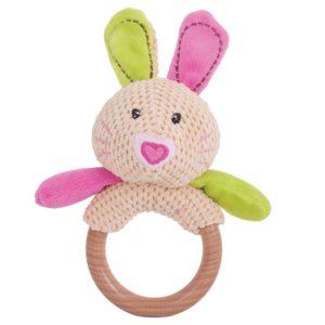 Дървена бебешка дрънкалка зайче Bigjigs BB528 1