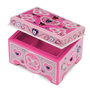 Дървена детска кутия за бижута за декориране Melissa & Doug 18861 1
