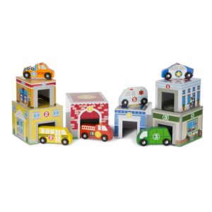 Дървена игра за сортиране със сгради и превозни средства Melissa & Doug 13576 1