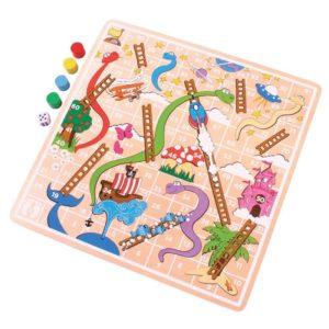 Дървена игра змии и стълби Bigjigs BJ590 1