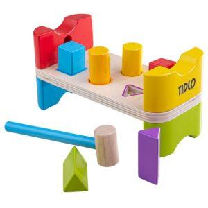 Дървена игра с чукче за сортиране Bigjigs T0530 1