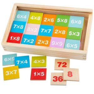 Дървена игра умножение и деление Bigjigs BJ538 1