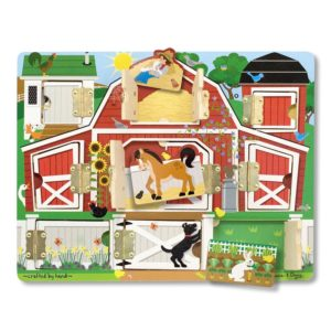 Дървена образователна игра с вратички ферма Melissa & Doug 14592 1