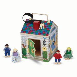 Дървена образователна къщичка с ключове и ключалки Melissa & Doug 12505 1