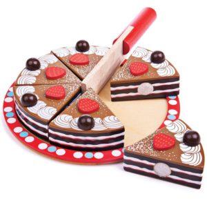 Дървена шоколадова торта Bigjigs BJ627 1