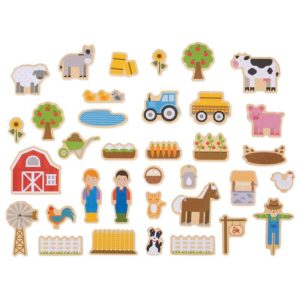 Дървени магнити животните във фермата Bigjigs BJ274 1