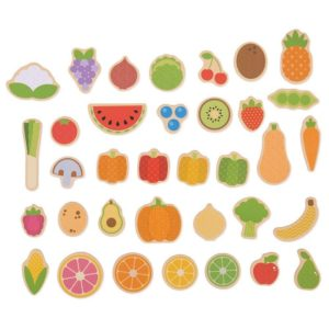 Дървени магнити плодове и зеленчуци Bigjigs BJ273 1