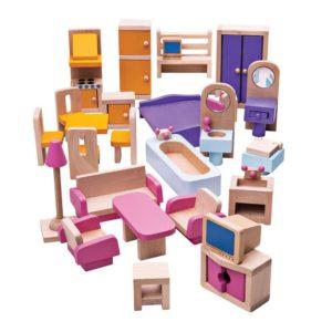 Дървени мебели за кукли Bigjigs JT116 1