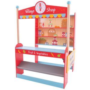 Дървен детски магазин Bigjigs Village Shop BJ488 1
