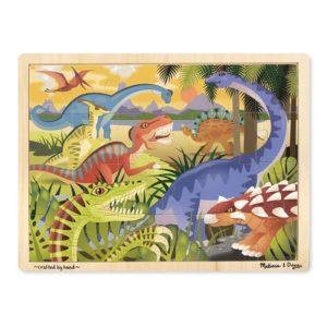 Дървен пъзел с динозаври в рамка Melissa & Doug 19066 1