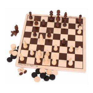 Дървен шах и табла Bigjigs 2 в 1 BJ789 1