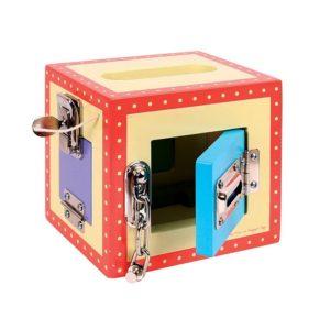 Игра дървена кутия с ключалки Bigjigs BJ447 1