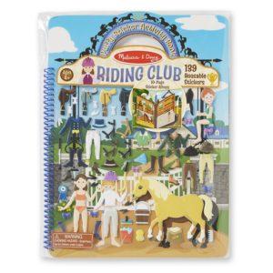Книжка със стикери за многократна употреба конна езда Melissa & Doug 19410 1