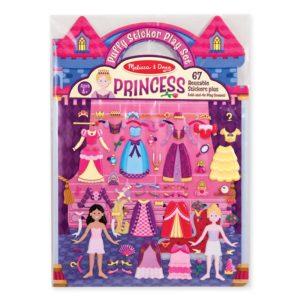 Книжка със стикери за многократна употреба принцеси Melissa & Doug 19100 1