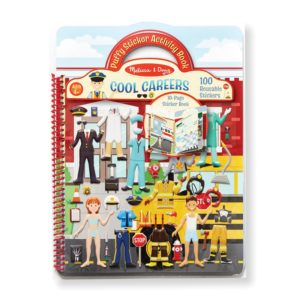 Книжка със стикери за многократна употреба професии Melissa & Doug 19426 1