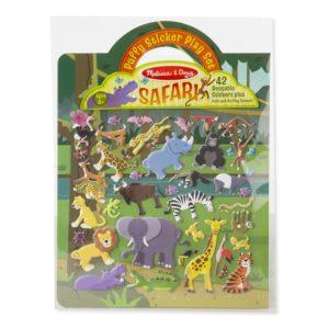 Книжка със стикери за многократна употреба сафари животни Melissa & Doug 19106 1