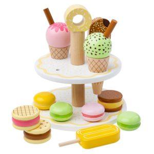 Комплект дървени сладоледи и сладкиши Bigjigs BJ187 1