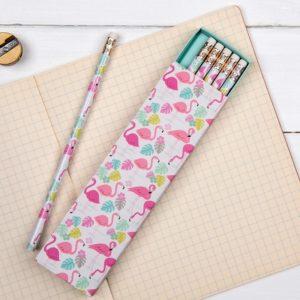 Комплект моливи с гумичка фламинго Rex London - 6 броя 26859 1