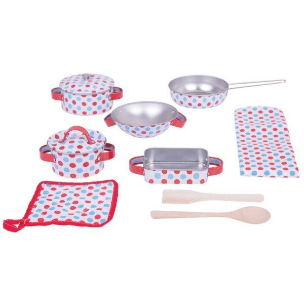 Метален детски готварски комплект на точки Bigjigs BJ631 1