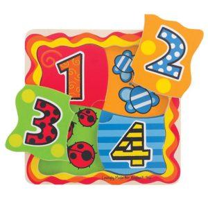 Образователен дървен пъзел за деца Bigjigs BJ510 1