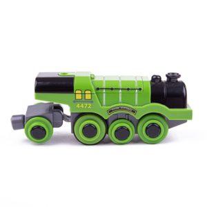Пластмасов локомотив на батерии Летящия Шотландец Bigjigs Rail BJT306 1