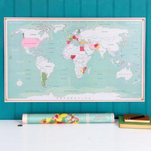 Скреч карта на света за изтриване Rex London 28113 1