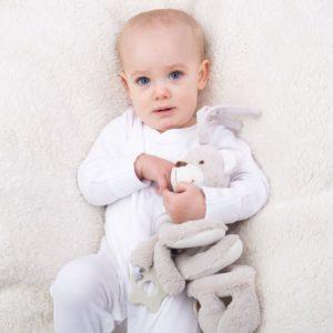 Бебешка играчка Мека дрънкалка спирала Меченце BigJigs BB602 (2)