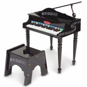 Голямо детско пиано със столче Черно Melissa & Doug 11315 (1)