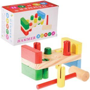 Детска дървена игра с чукче Многоцветна Rex London 26135 (1)