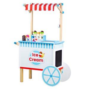 Детска дървена количка за сладолед BigJigs BJ409 (1)