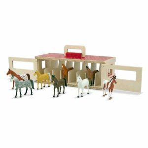 Детска дървена конюшня за състезания с кончета Melissa & Doug 13744 (1)