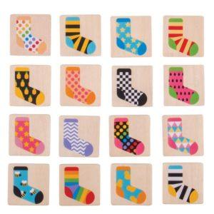 Детска дървена мемо игра Чорапи Bigjigs BJ905