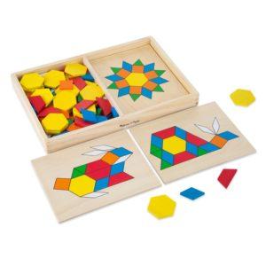 Детска дървена мозайка с шаблони Melissa & Doug 10029 (1)