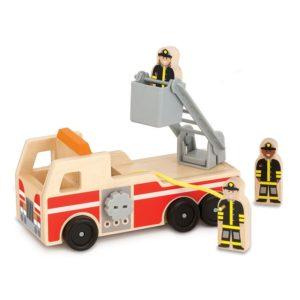 Детска дървена пожарна кола и пожарникари Melissa & Doug 19391 (1)