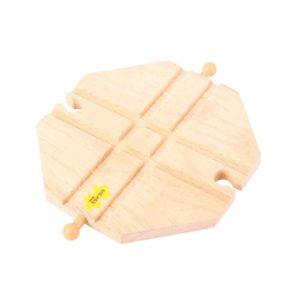Детска играчка дървенa ЖП релсa Пресичаща плоча BigJigs BJT105 1