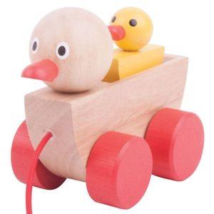 Детска играчка за дърпане Дървени патета Bigjigs BJ770 (1)