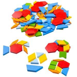 Детска игра Геометрични плочки BigJigs BJ942 (1)