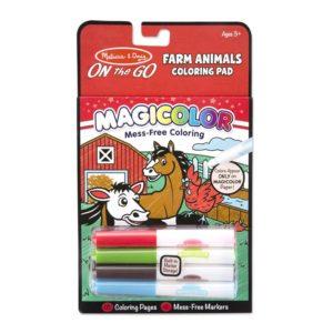Детска книжка за магическо оцветяване Селскостопански животни Melissa & Doug 19126 (1)