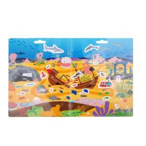 Детска книжка със стикери Подводни приключения BigJigs BJ009 1