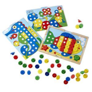Детска цветна мозайка Сортирай по цветове Melissa & Doug 14313 (1)